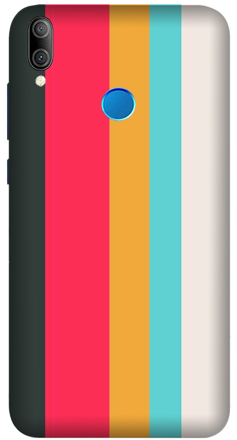 Color Pattern Mobile Back Case for Xiaomi Redmi Y3  (Design - 369)