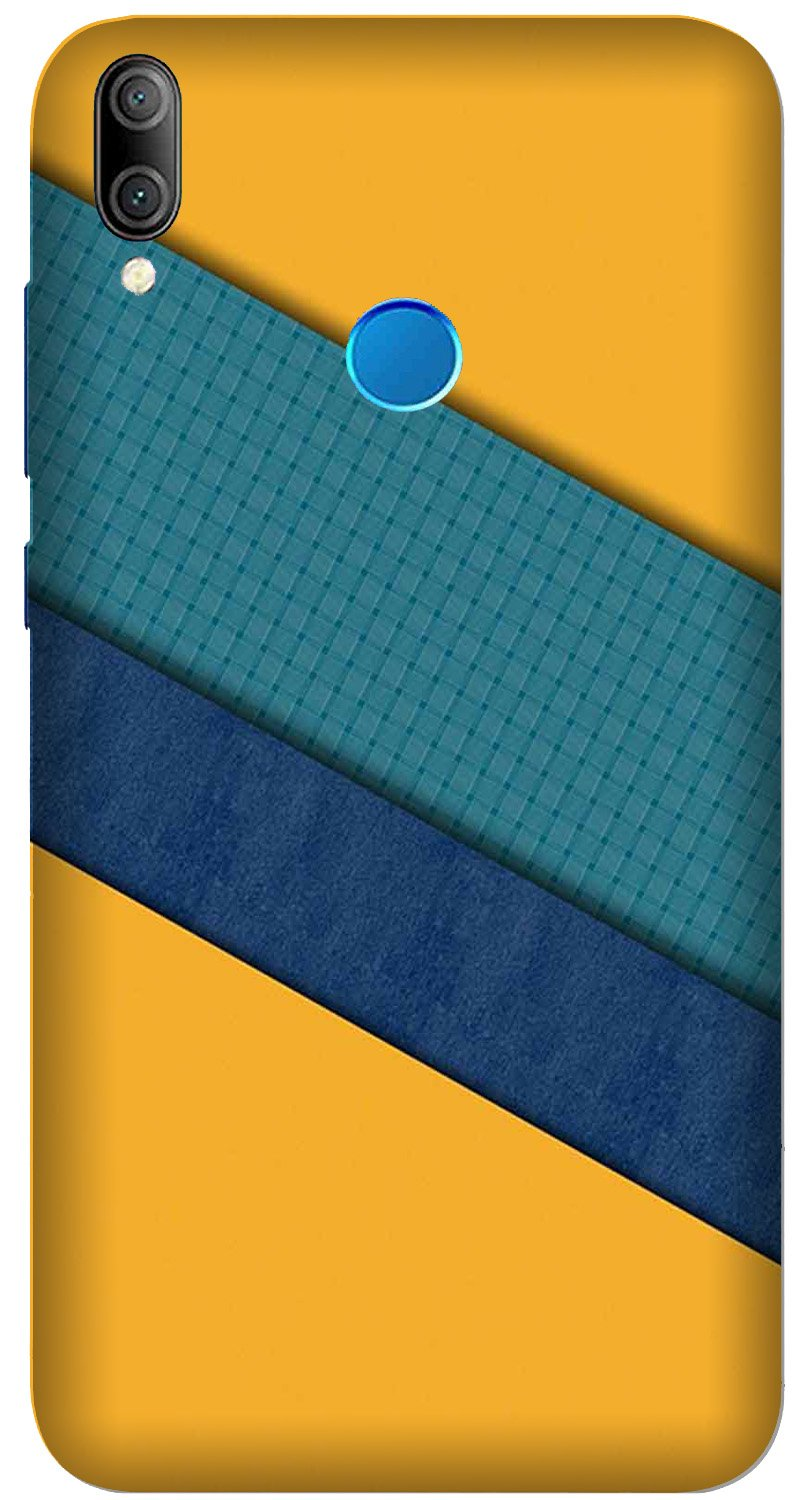 Diagonal Pattern Mobile Back Case for Xiaomi Redmi Y3  (Design - 370)