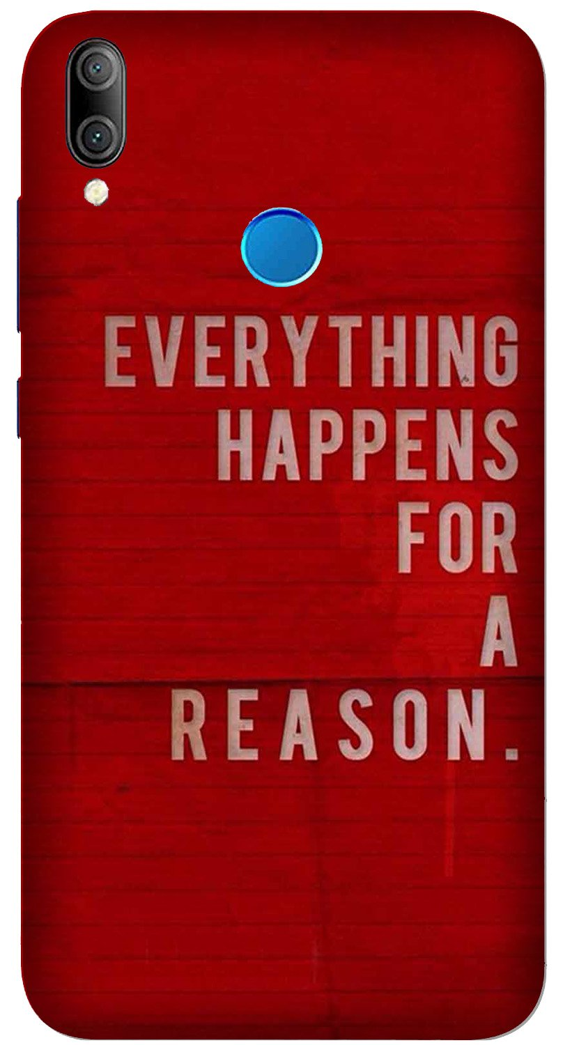 Everything Happens Reason Mobile Back Case for Xiaomi Redmi Y3  (Design - 378)