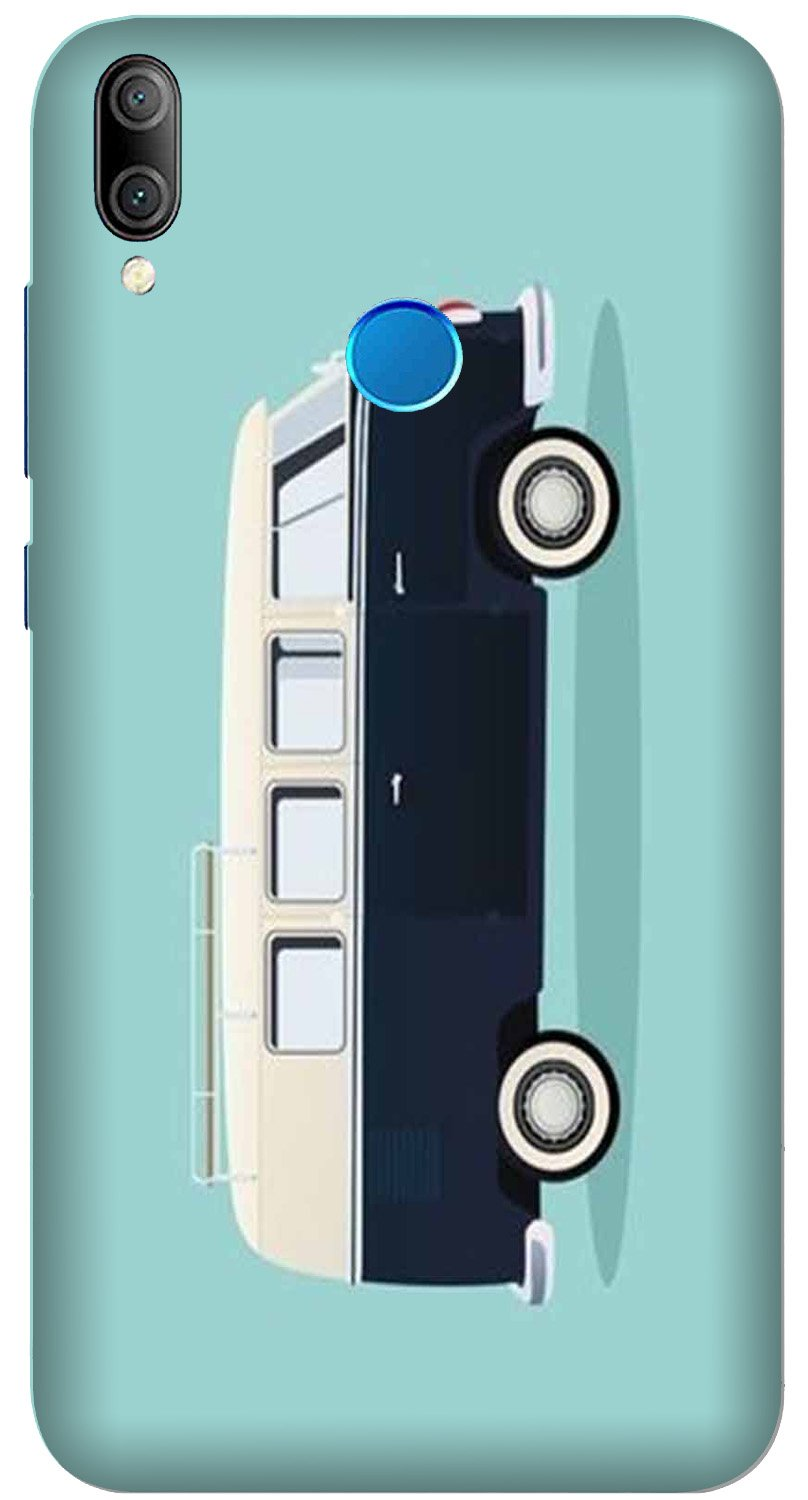 Travel Bus Mobile Back Case for Xiaomi Redmi Y3  (Design - 379)