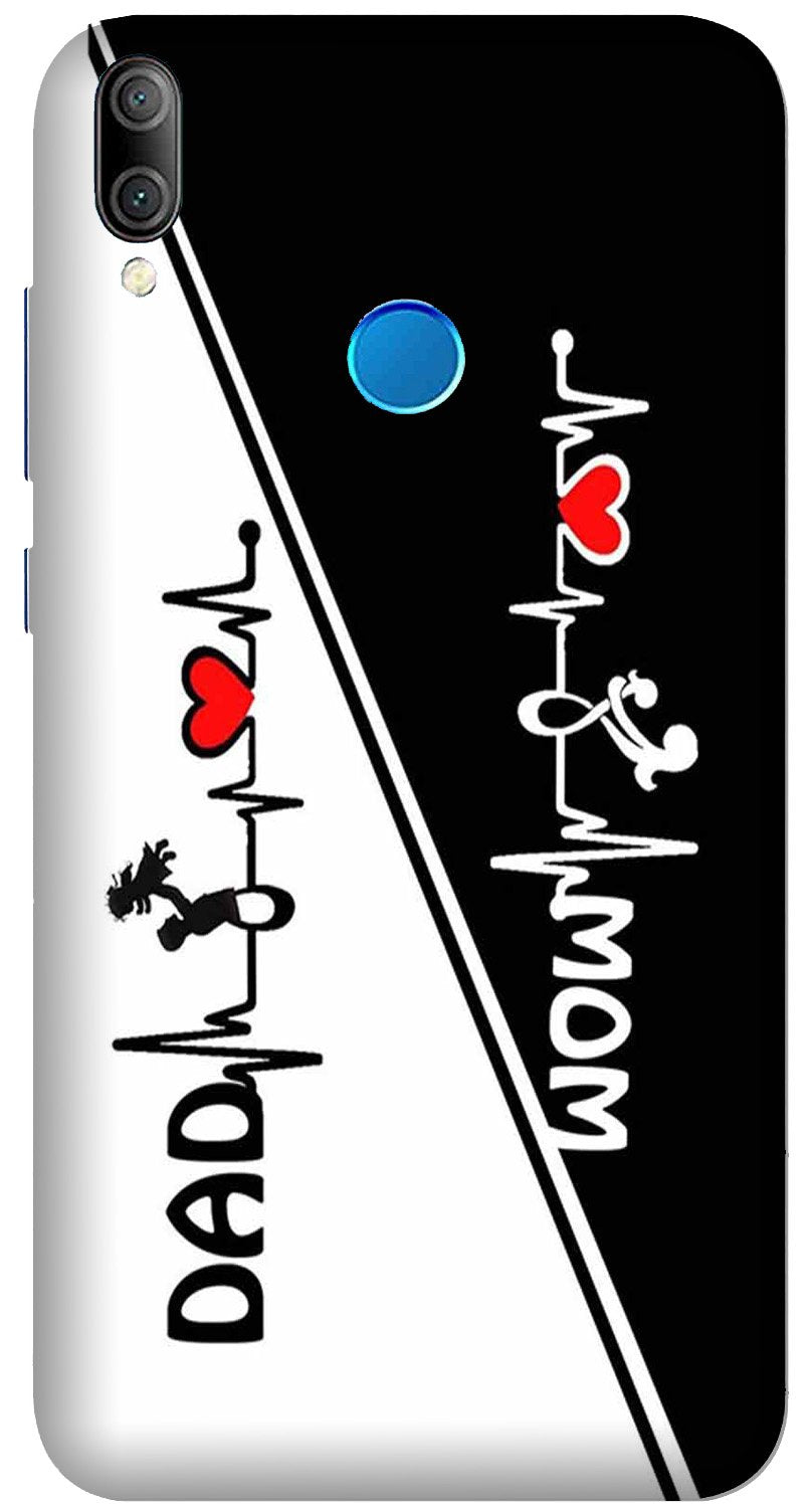 Love Mom Dad Mobile Back Case for Xiaomi Redmi Y3  (Design - 385)