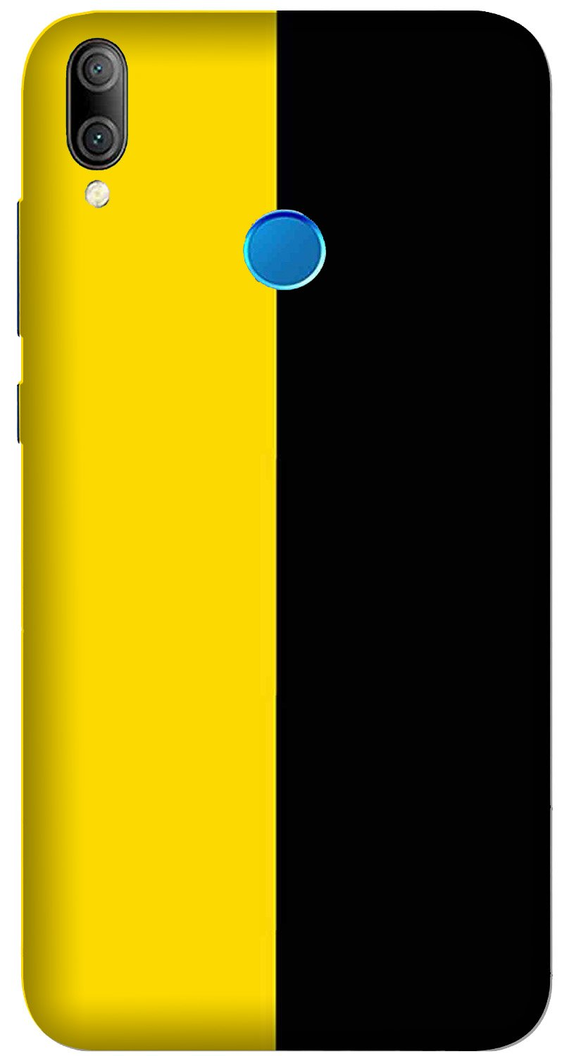 Black Yellow Pattern Mobile Back Case for Xiaomi Redmi Y3  (Design - 397)