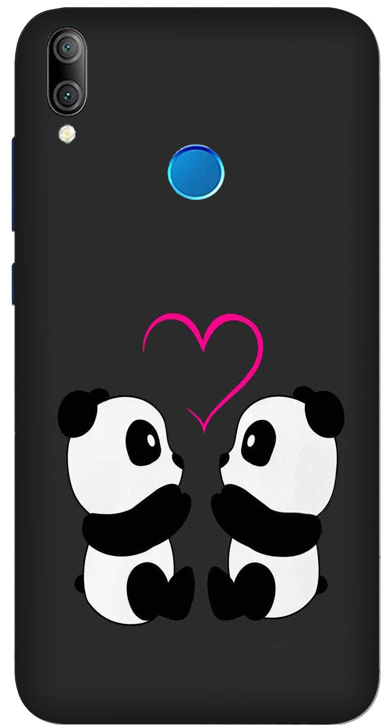 Panda Love Mobile Back Case for Xiaomi Redmi Y3  (Design - 398)