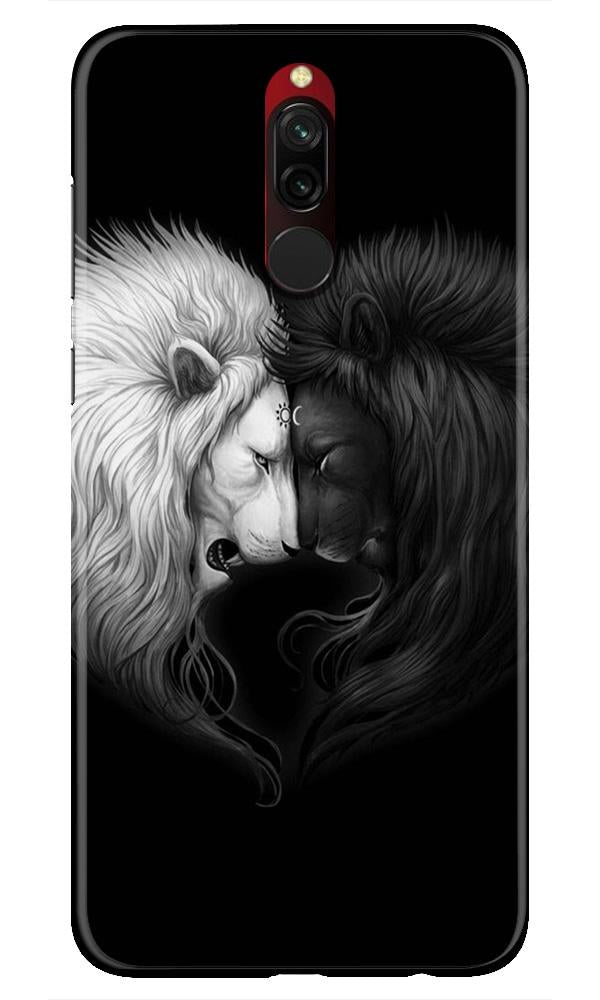 Dark White Lion Case for Xiaomi Redmi 8  (Design - 140)
