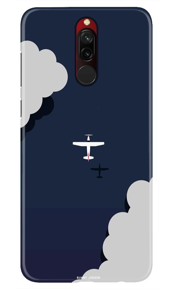 Clouds Plane Case for Xiaomi Redmi 8 (Design - 196)