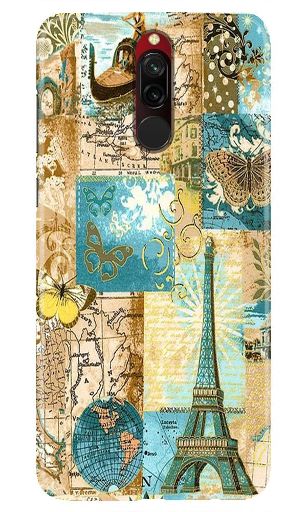 Travel Eiffel Tower Case for Xiaomi Redmi 8 (Design No. 206)