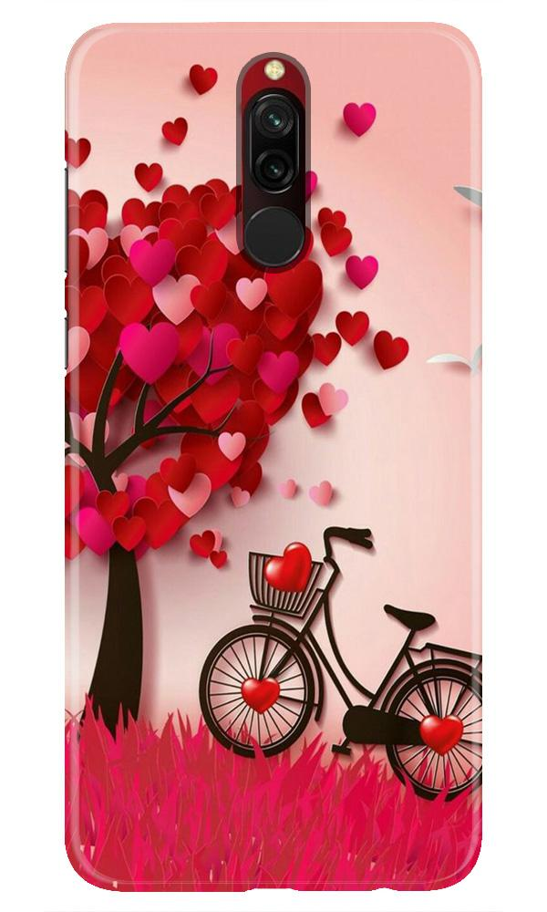 Red Heart Cycle Case for Xiaomi Redmi 8 (Design No. 222)
