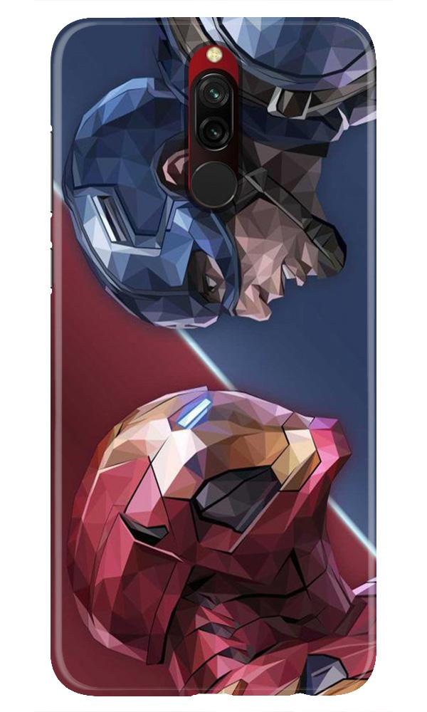 Ironman Captain America Case for Xiaomi Redmi 8 (Design No. 245)