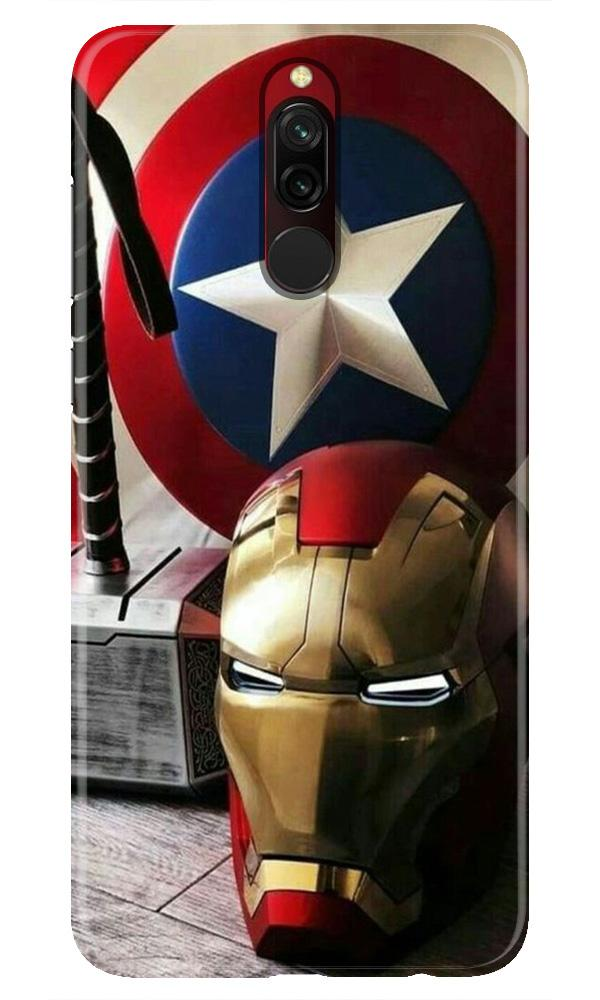 Ironman Captain America Case for Xiaomi Redmi 8 (Design No. 254)