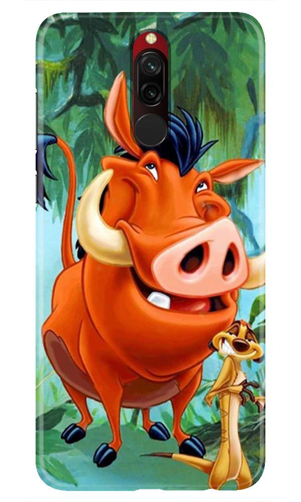 Timon and Pumbaa Mobile Back Case for Xiaomi Redmi 8  (Design - 305)