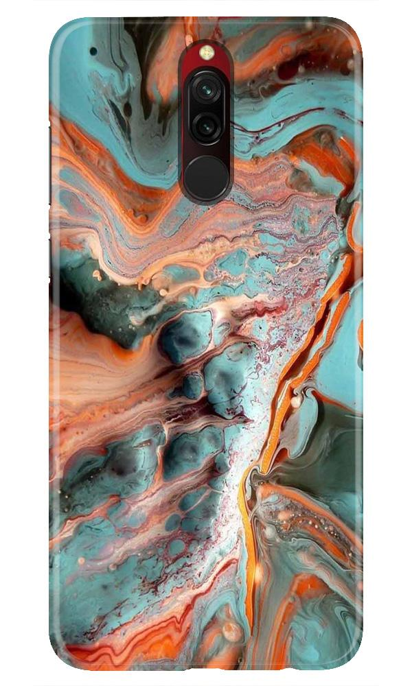 Marble Texture Mobile Back Case for Xiaomi Redmi 8  (Design - 309)
