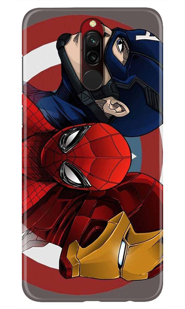 Superhero Mobile Back Case for Xiaomi Redmi 8  (Design - 311)