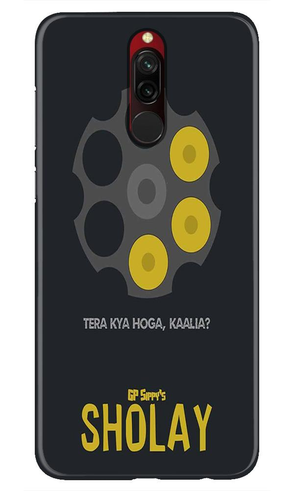 Sholay Mobile Back Case for Xiaomi Redmi 8  (Design - 356)