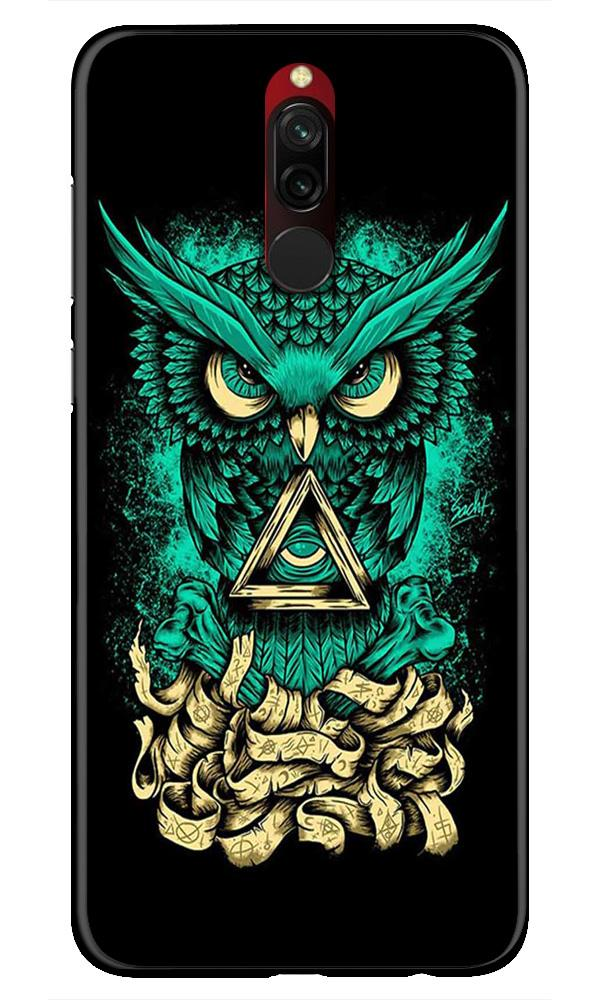 Owl Mobile Back Case for Xiaomi Redmi 8  (Design - 358)