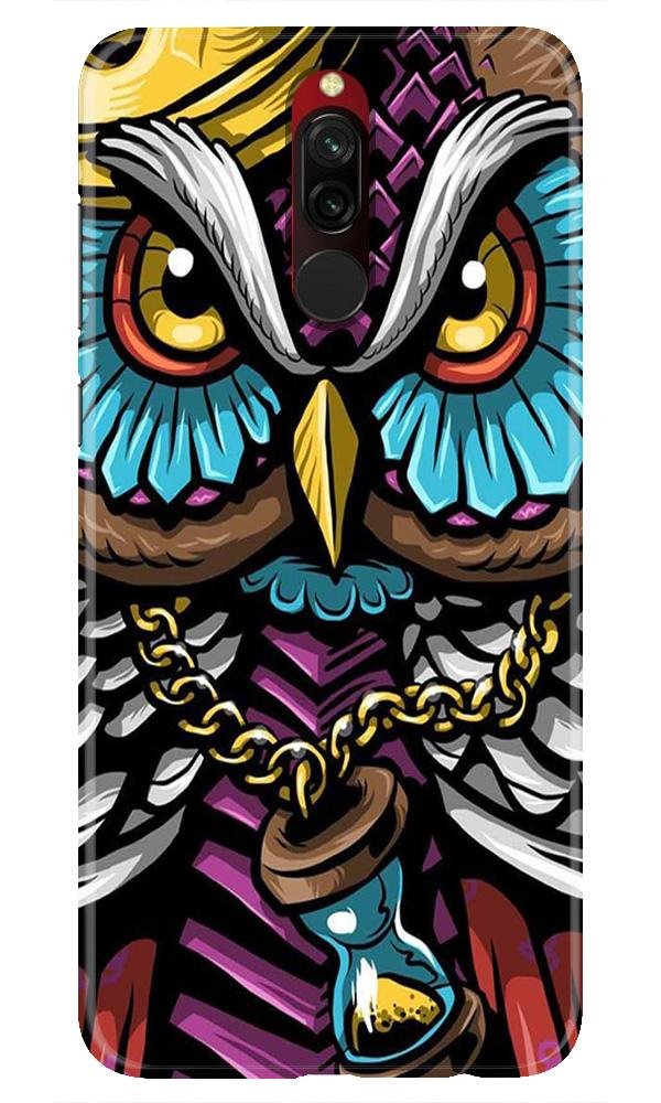 Owl Mobile Back Case for Xiaomi Redmi 8  (Design - 359)