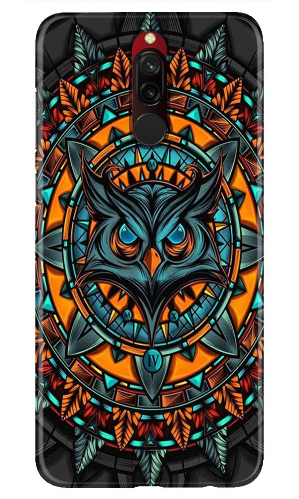 Owl Mobile Back Case for Xiaomi Redmi 8  (Design - 360)