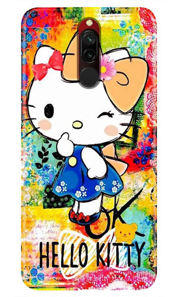 Hello Kitty Mobile Back Case for Xiaomi Redmi 8  (Design - 362)