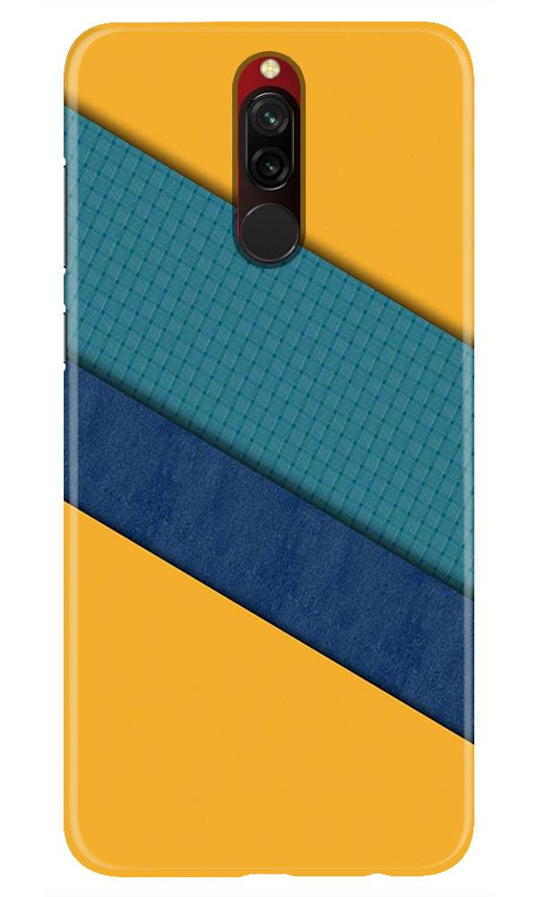 Diagonal Pattern Mobile Back Case for Xiaomi Redmi 8  (Design - 370)