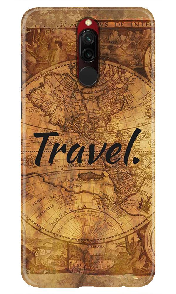 Travel Mobile Back Case for Xiaomi Redmi 8  (Design - 375)