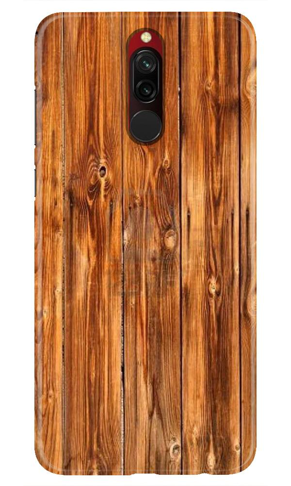 Wooden Texture Mobile Back Case for Xiaomi Redmi 8  (Design - 376)