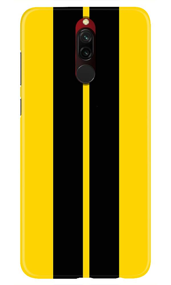 Black Yellow Pattern Mobile Back Case for Xiaomi Redmi 8  (Design - 377)