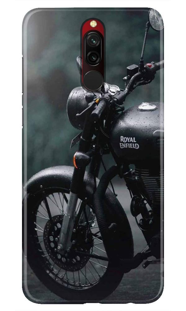 Royal Enfield Mobile Back Case for Xiaomi Redmi 8  (Design - 380)
