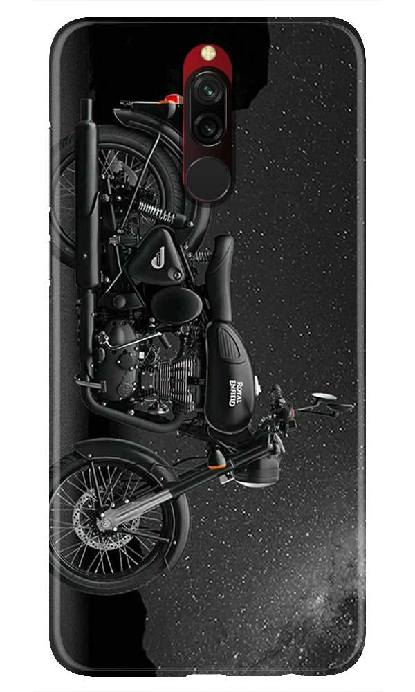 Royal Enfield Mobile Back Case for Xiaomi Redmi 8  (Design - 381)