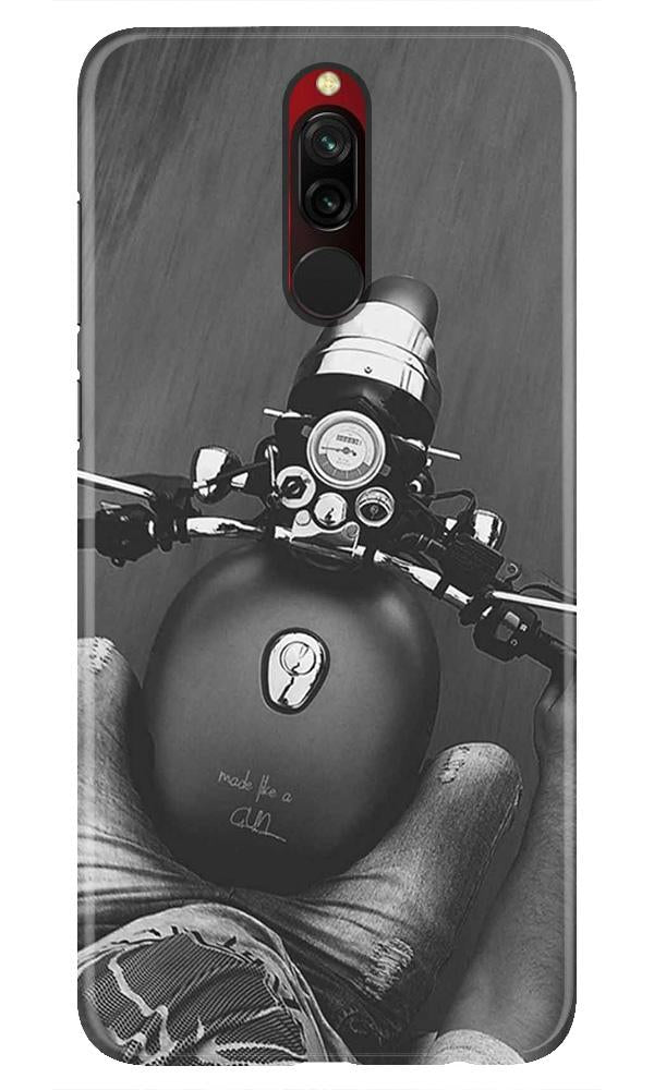 Royal Enfield Mobile Back Case for Xiaomi Redmi 8  (Design - 382)