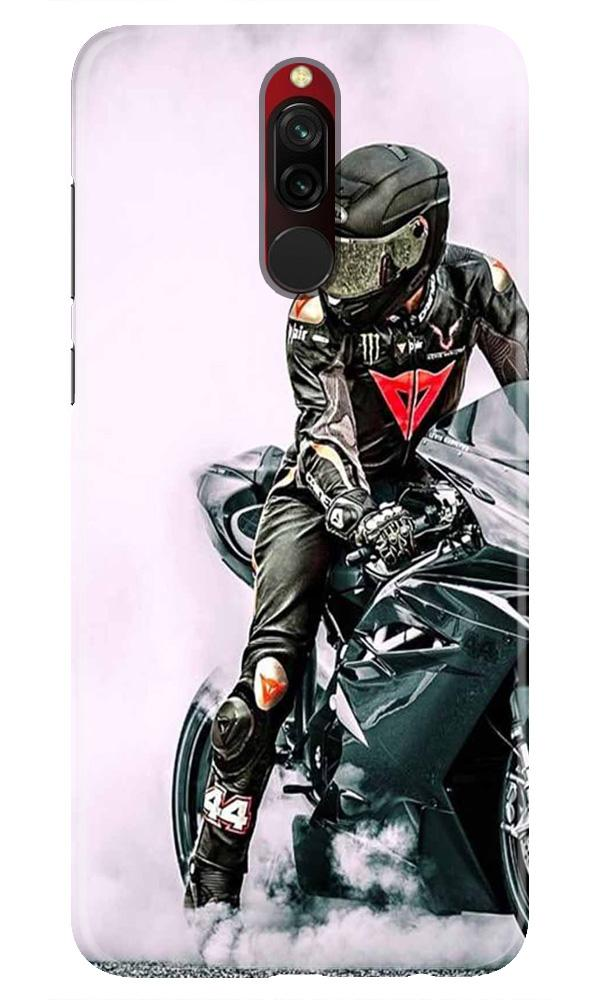 Biker Mobile Back Case for Xiaomi Redmi 8  (Design - 383)
