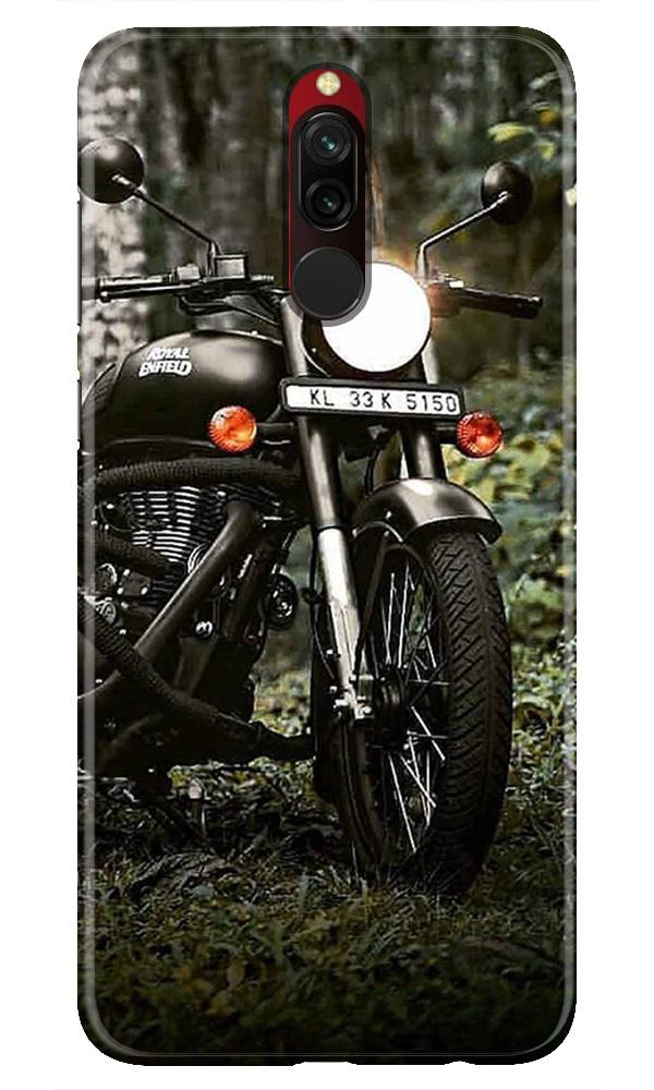 Royal Enfield Mobile Back Case for Xiaomi Redmi 8  (Design - 384)
