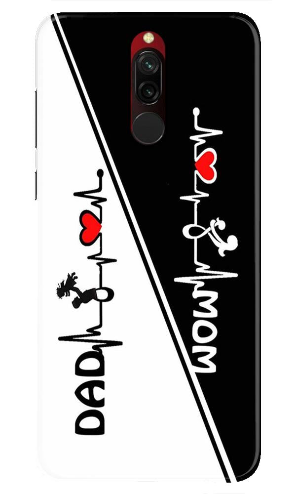 Love Mom Dad Mobile Back Case for Xiaomi Redmi 8  (Design - 385)