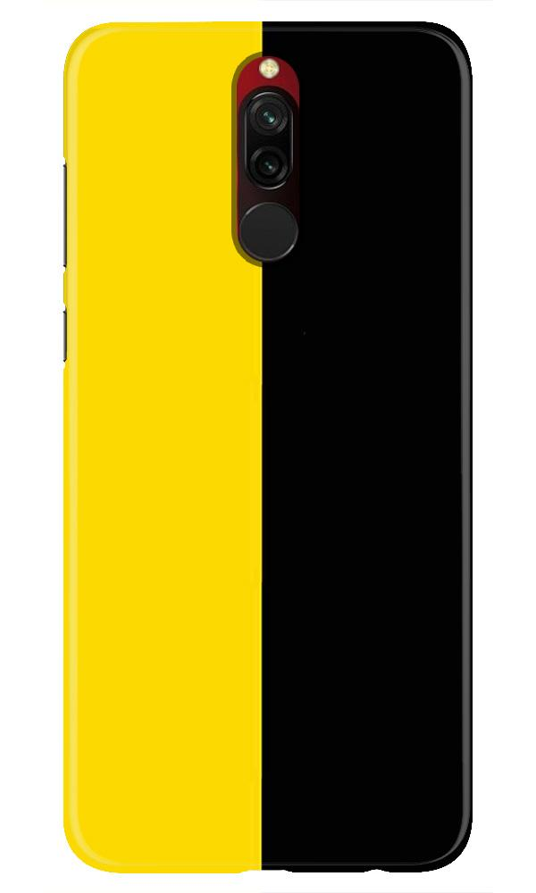 Black Yellow Pattern Mobile Back Case for Xiaomi Redmi 8  (Design - 397)