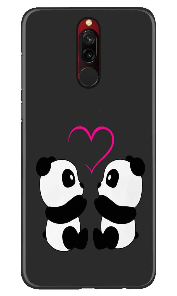 Panda Love Mobile Back Case for Xiaomi Redmi 8  (Design - 398)