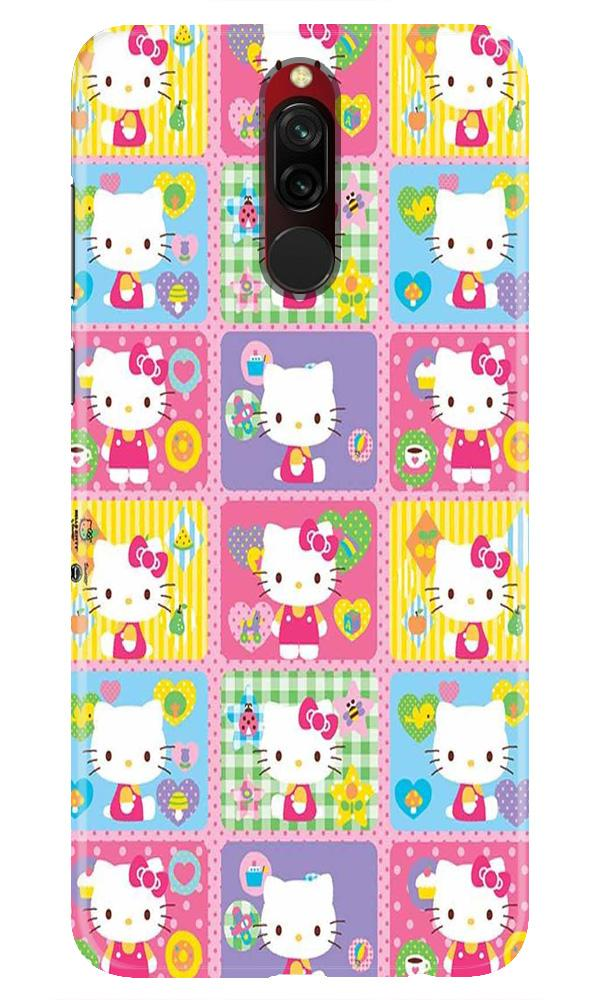 Kitty Mobile Back Case for Xiaomi Redmi 8  (Design - 400)