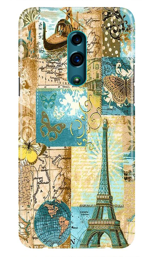 Travel Eiffel Tower Case for Oppo Reno (Design No. 206)