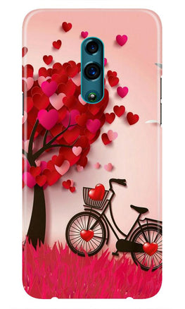Red Heart Cycle Case for Realme X (Design No. 222)