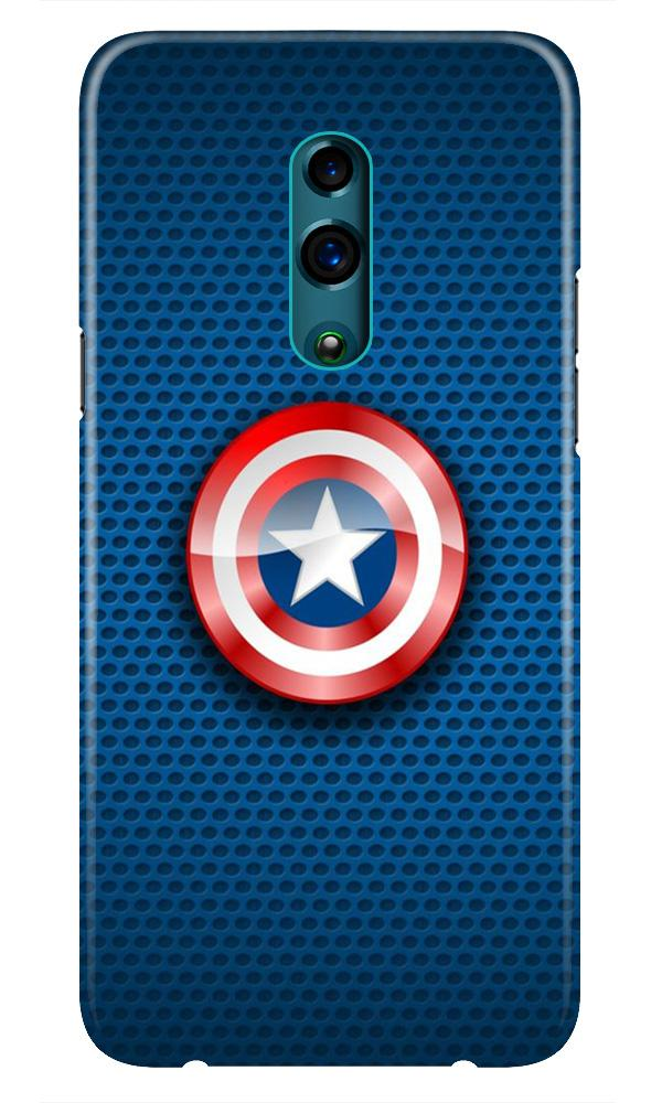 Captain America Shield Case for Realme X (Design No. 253)