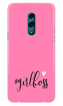Girl Boss Pink Case for Realme X (Design No. 269)