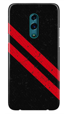 Black Red Pattern Mobile Back Case for Realme X  (Design - 373)