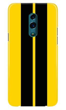 Black Yellow Pattern Mobile Back Case for Oppo K3  (Design - 377)