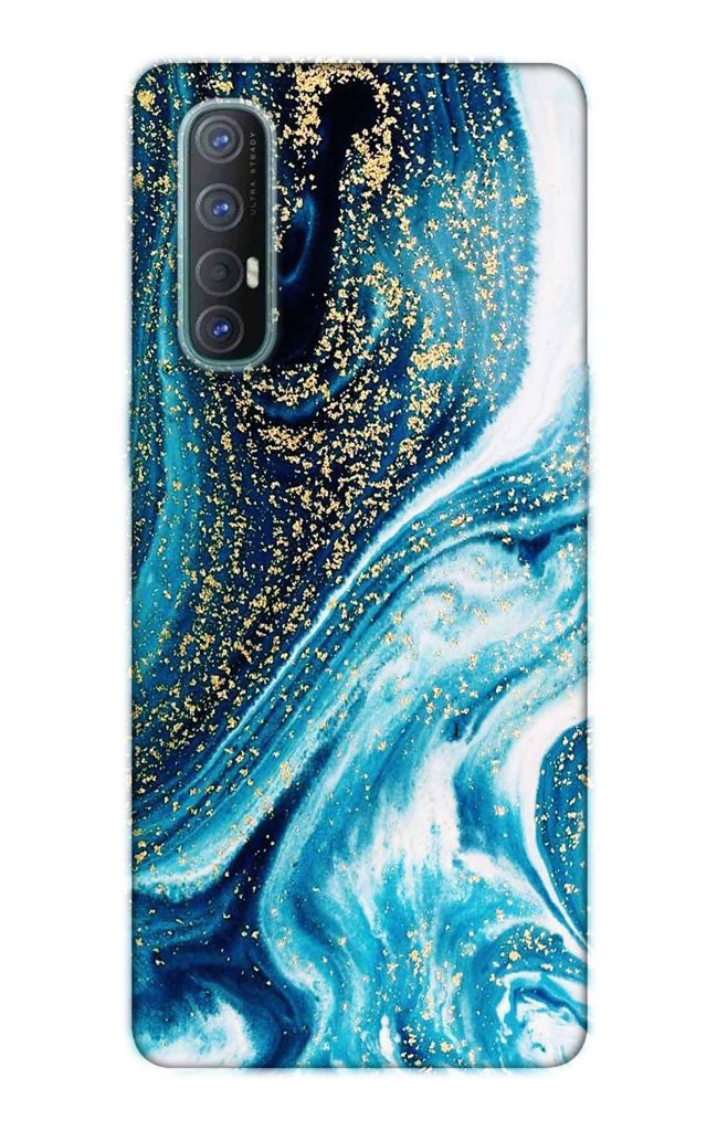 Marble Texture Mobile Back Case for Oppo Reno3 Pro  (Design - 308)