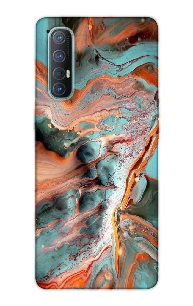 Marble Texture Mobile Back Case for Oppo Reno3 Pro  (Design - 309)
