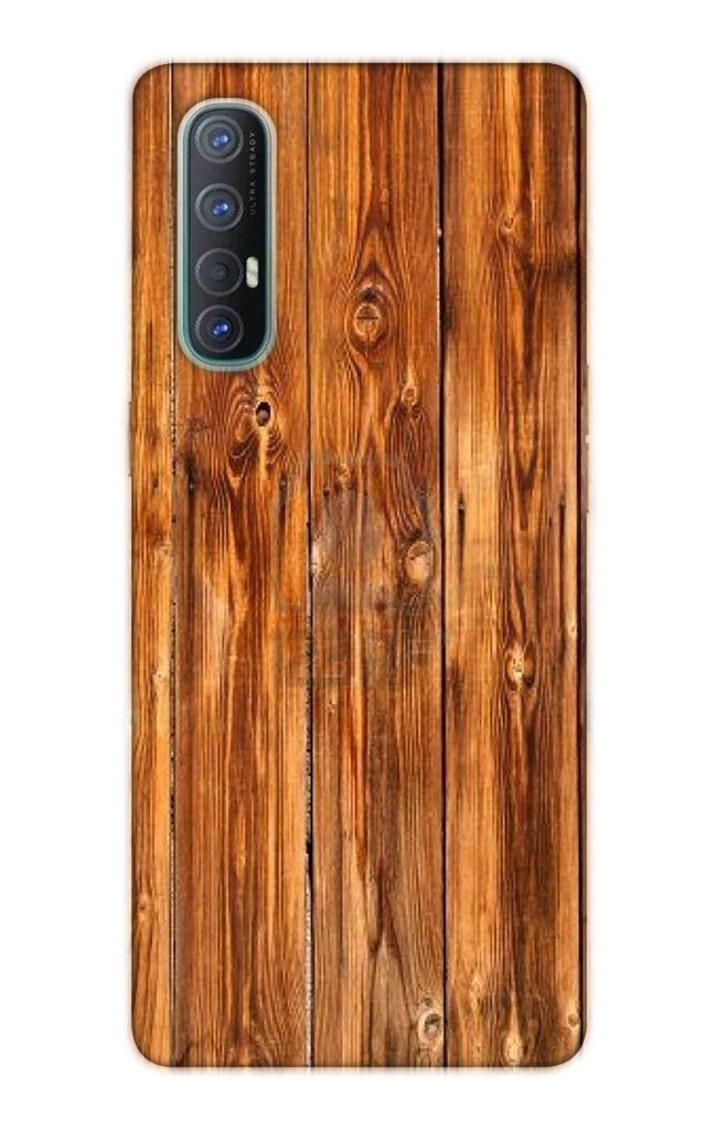 Wooden Texture Mobile Back Case for Oppo Reno3 Pro  (Design - 376)