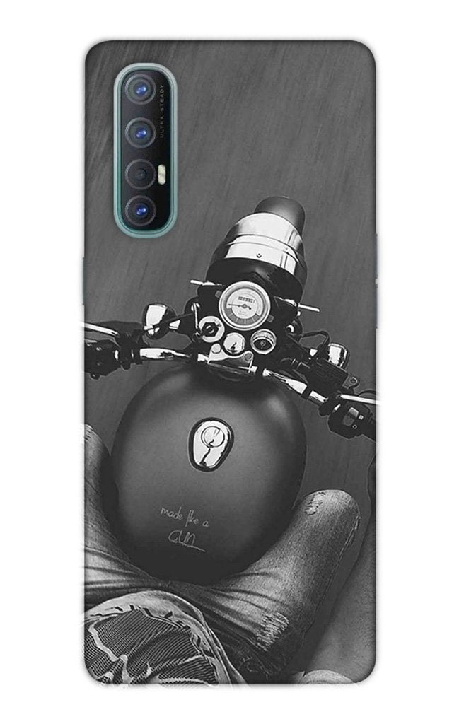 Royal Enfield Mobile Back Case for Oppo Reno3 Pro  (Design - 382)