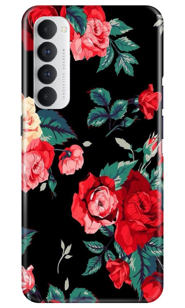 Red Rose2 Case for Oppo Reno4 Pro