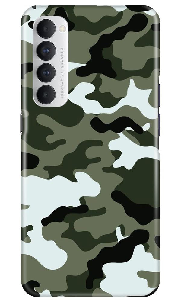 Army Camouflage Case for Oppo Reno4 Pro  (Design - 108)