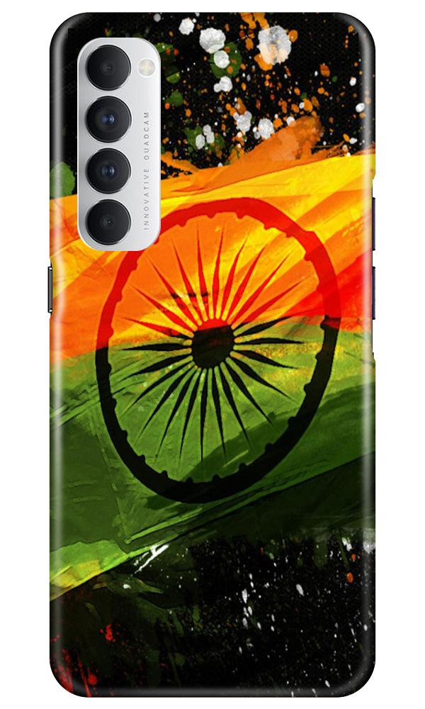 Indian Flag Case for Oppo Reno4 Pro  (Design - 137)