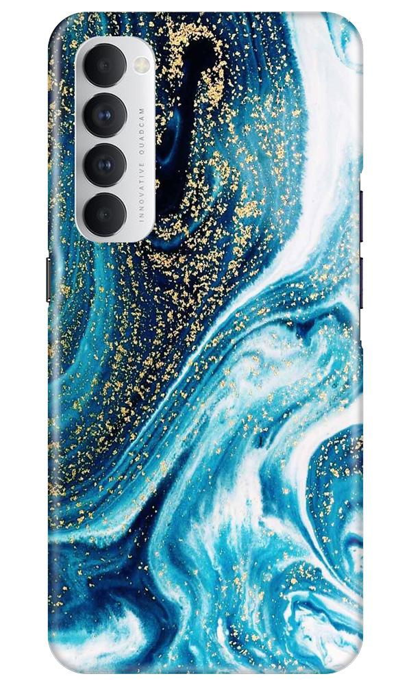 Marble Texture Mobile Back Case for Oppo Reno4 Pro  (Design - 308)