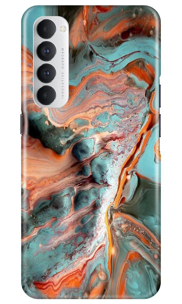 Marble Texture Mobile Back Case for Oppo Reno4 Pro  (Design - 309)