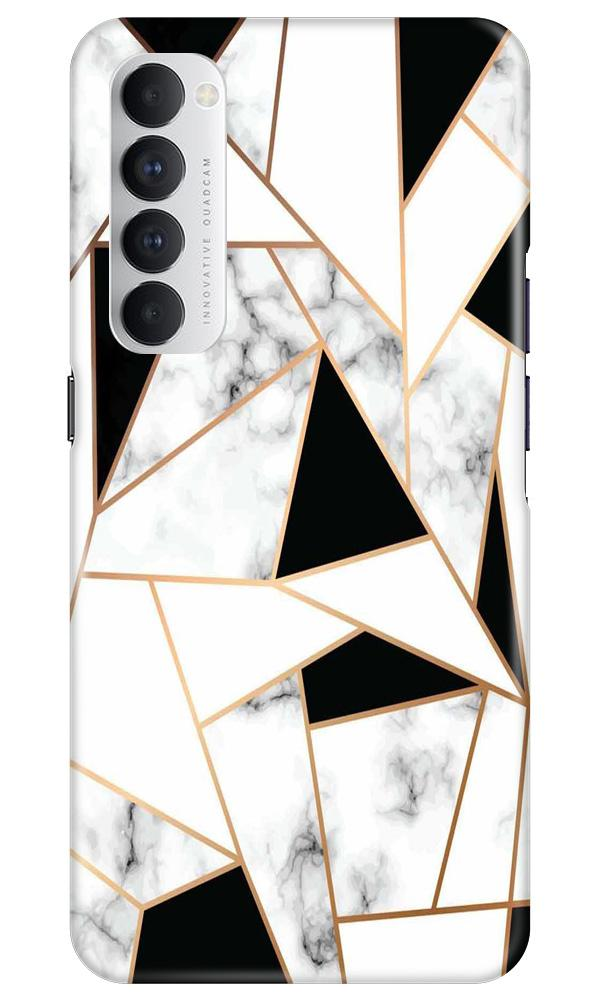 Marble Texture Mobile Back Case for Oppo Reno4 Pro  (Design - 322)